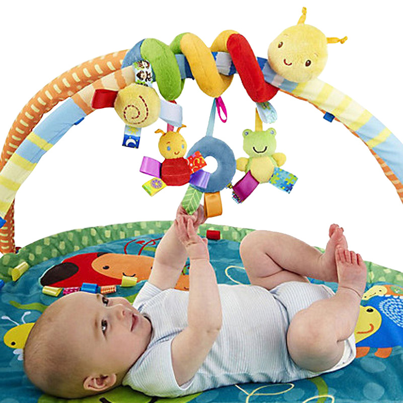 Baby Toy Cotton Toy Neonatal Music Bed Around Bed Bell Children Bed Trailer Lathe Baby Hanger Pendant New Brand