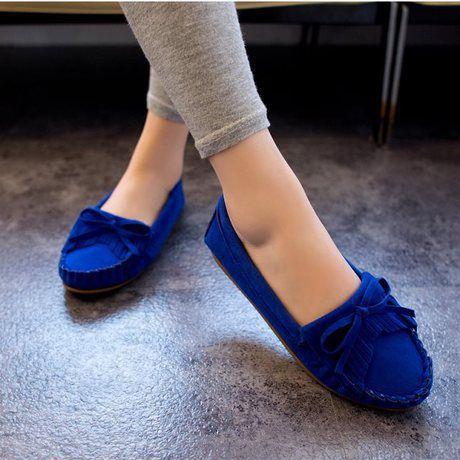 0d90fcc85aa 2015 New brand suede tassel loafers women fashion flats driving shoes  vintage knitted roynd toe navy blue loafers slip on
