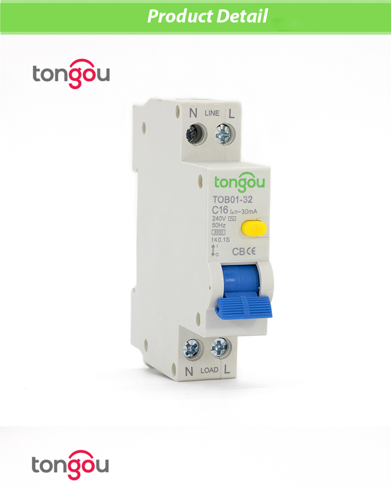 18mm Rcbo Elcb 16a 30ma 1p N Residual Current Circuit Breaker With 32a 2p Transparent Diy Electricals Technical Data