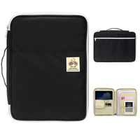 Waterproof Oxford A4 File Folder Document Bag Business Briefcase Storage Bag For Notebooks Pens IPad Computers