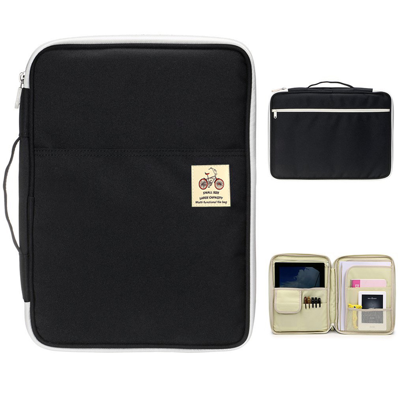 Waterproof Oxford A4 File Folder Document Bag Business Briefcase Storage Bag For Notebooks Pens IPad Computers Student Gift