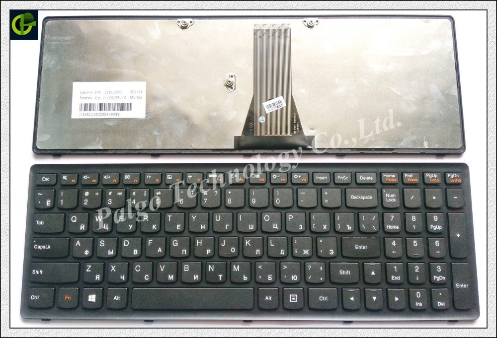 Russian Keyboard for Lenovo IdeaPad G500C G500S G500H S500 S500C G505s G510S Flex 15 15D S510p Z510 RU WITH BLACK FRAME