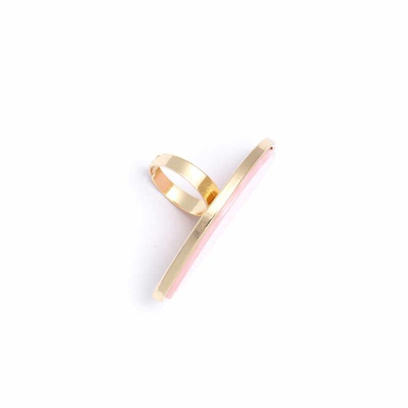 Fashion Wanita Cincin Asetat Piring Adjustable Cincin Oval Acrylic Resin Geometri Cincin Trendi Geometris Pernikahan Band Cincin