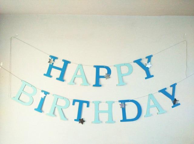 Aliexpress.com : Buy Customize Letter Blue Garland boys Happy ...