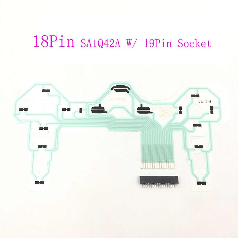 สำหรับ Sony PS2 SA1Q42A 18Pin ริบบิ้นวงจรฟิล์มจอยสติ๊ก Flex สาย Conductive Film สำหรับ PlayStation 2 Controller