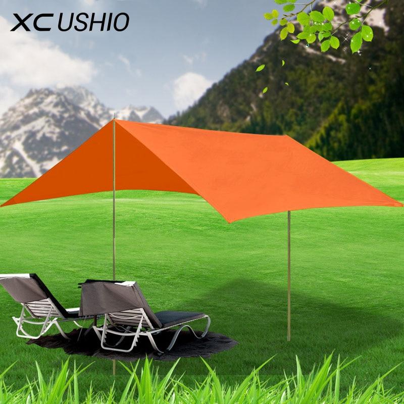Nouveau Multifonction pluie preuve plage pêche Randonnée Randonnée auvent bâche canopée en plein air parasol parc camping pergola auvent tente