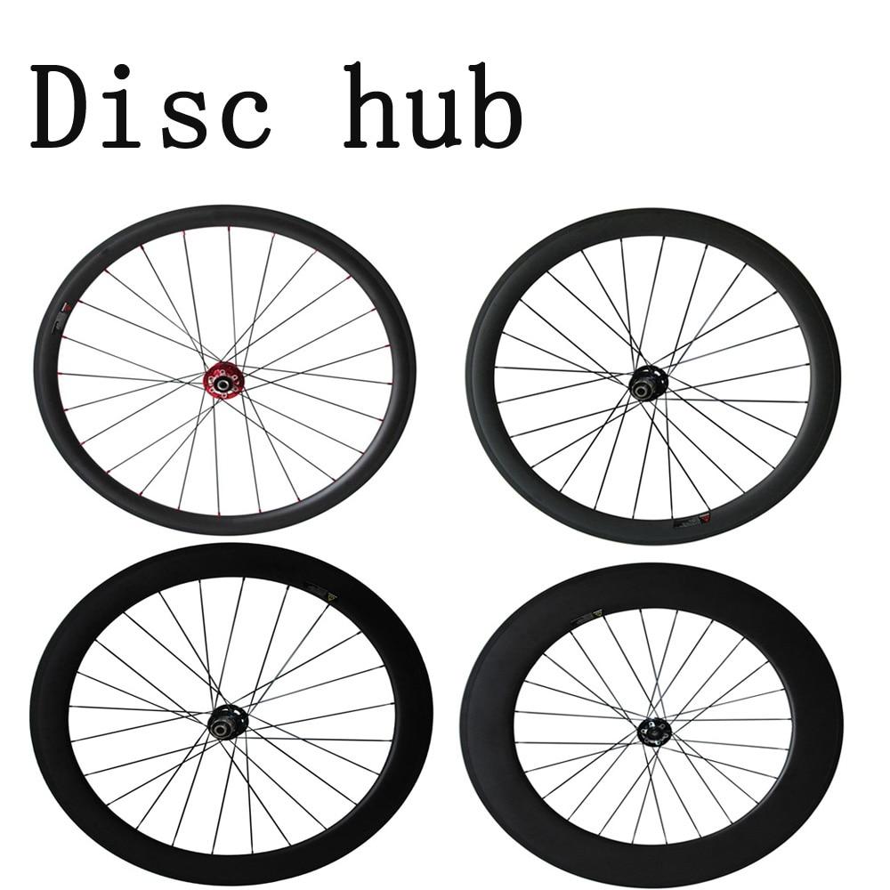 Disque de frein essieux 700C carbone wheeles 38mm/50mm/60mm/88mm Pneu/Tubuar /Tubeless cyclocross roues 12*100 12*142mm