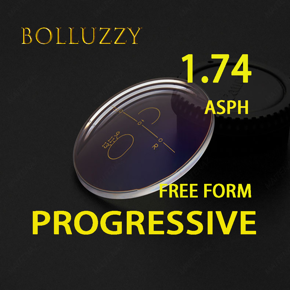 1 74 Index ASPH Free Form Progressive Clear Lenses Transparent Multifocal Bofical High Quality Thin Optical