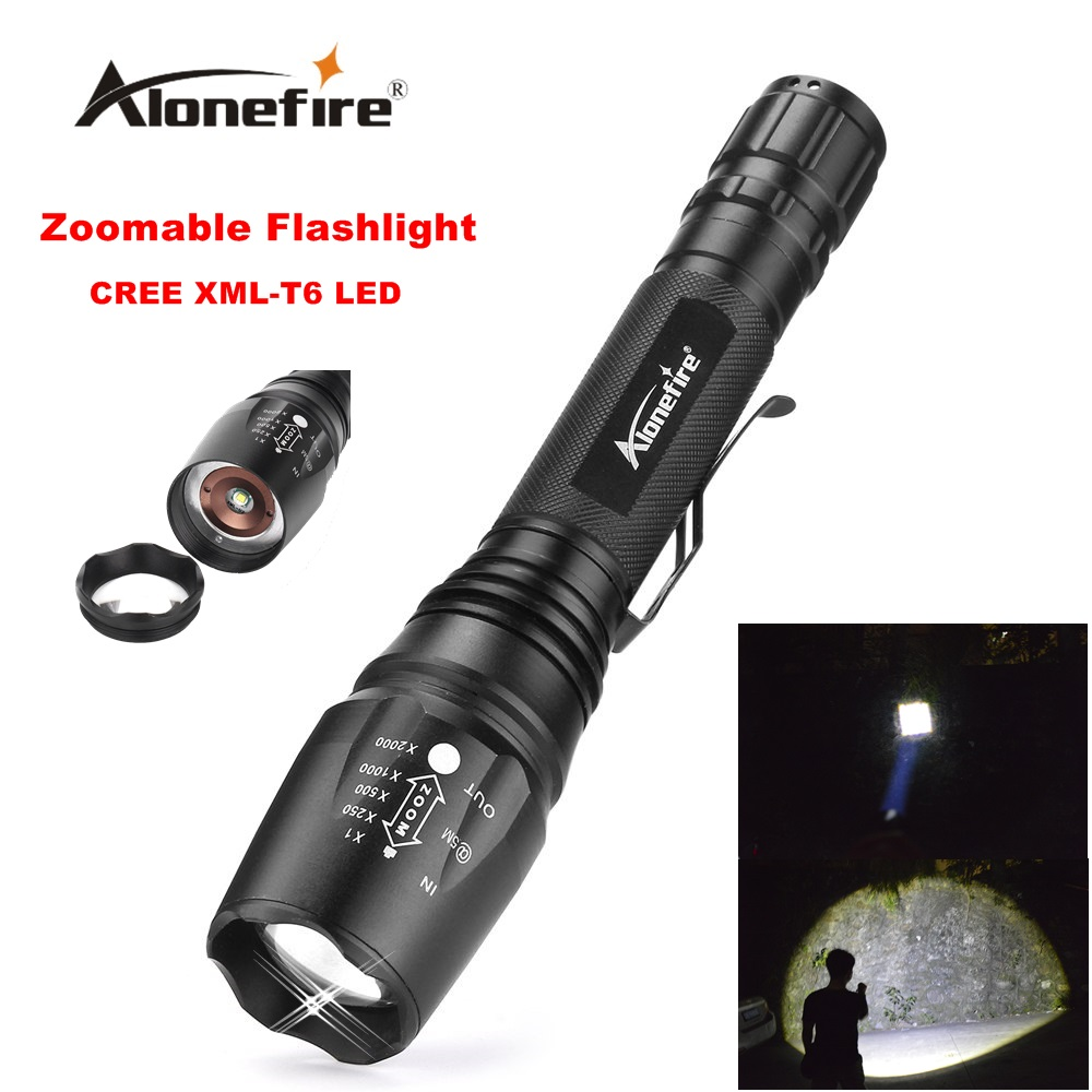 Alonefire H200 zoom flashlight CREE XM-L T6 LED Waterproof Adjustable zoomable Flashlight Torch light for 2x18650 battery e17 cree xm l t6 2400lumens led flashlight torch adjustable led flashlight torch light flashlight torch rechargeable