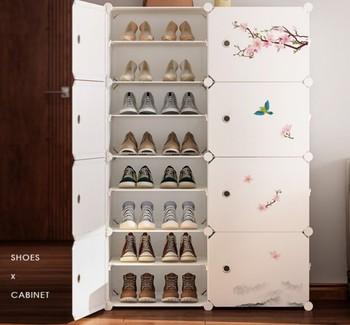 Étagère à Chaussures Moderne En Plastique Métal Grande Chaussure Bottes Armoire Organisateur Couloir Chaussure Botte Rangement Chaussures étagères Meubles De Maison B497