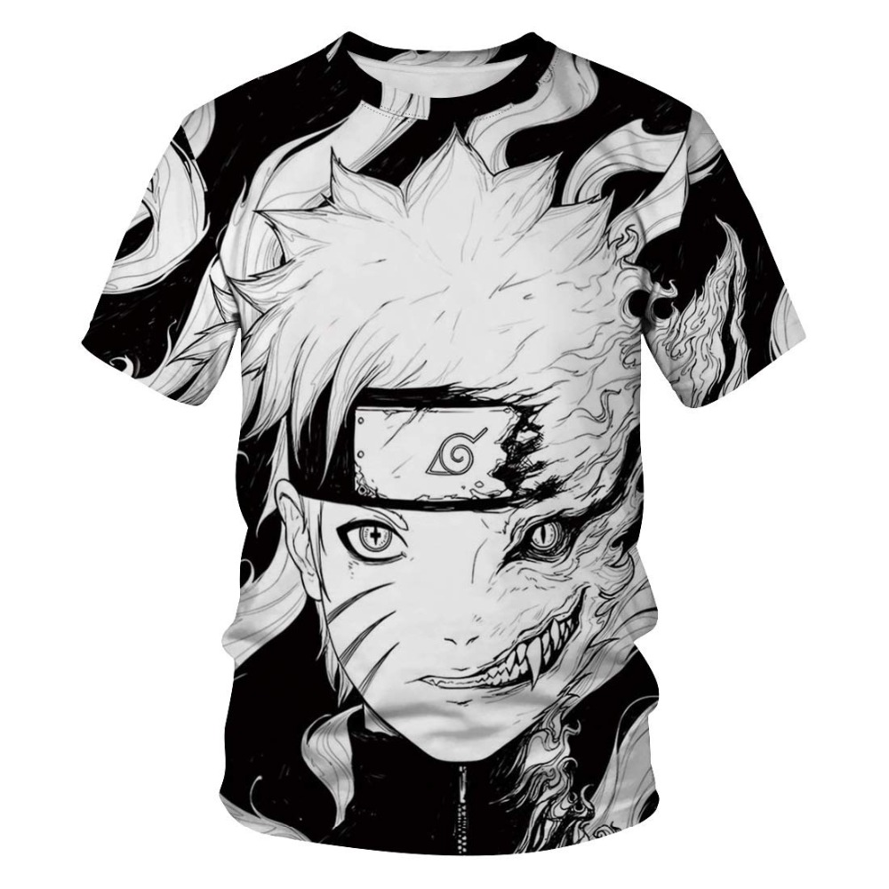 New Summer Anime Uzumaki Naruto T Shirt Men Funny Kakashi 3D Printed Men/Women T-Shirt 2019 Casual Harajuku Tshirt Tops&Tees