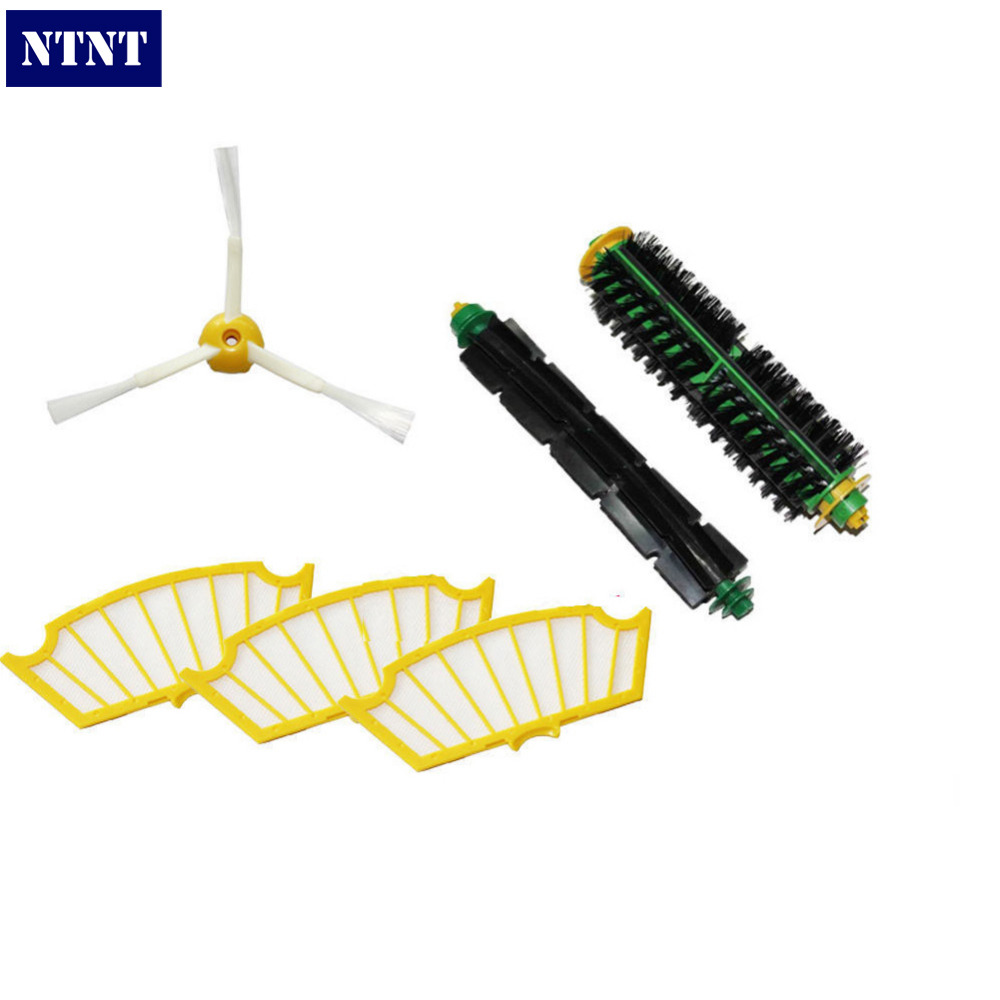 NTNT Free Post New 3 Armed Side Brush Filters for iRobot Roomba 500 Series 550 540 555 560 570 580 ntnt free post new brush filters 6 armed kit for irobot roomba 500 series 530 550 560 580 510 570