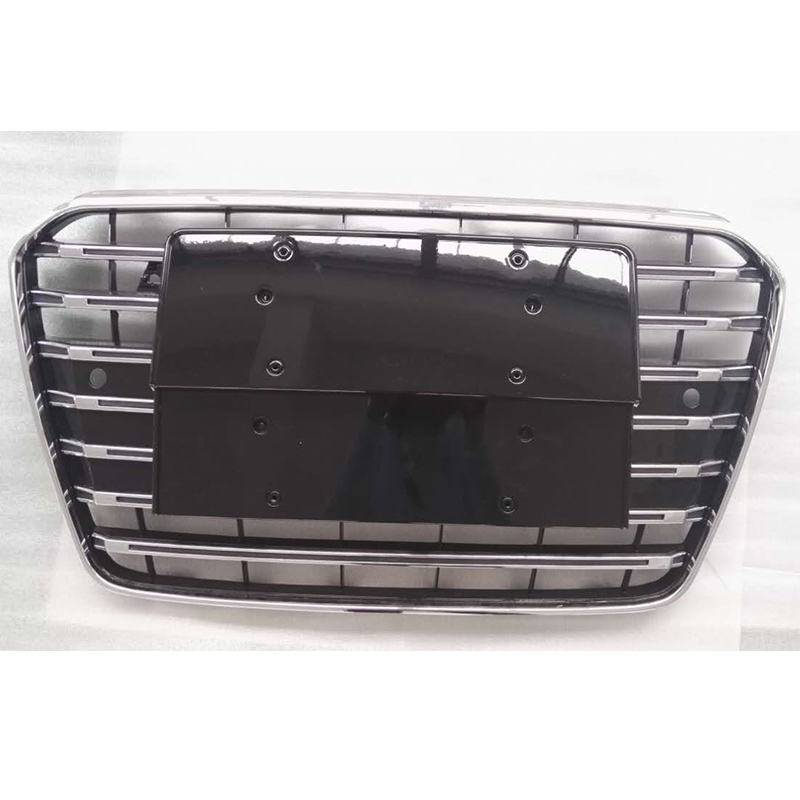 A5 S5 Style chrome frame Black Front Bumper Grill Grille Car styling for audi A5 S5