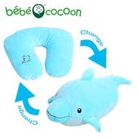 Bebecocoon Kawaii Dolphin/Del Perro/Del Tigre Convertible Cuello en forma de U Almohada de Peluche de Juguete de Felpa Cojín Decorativo