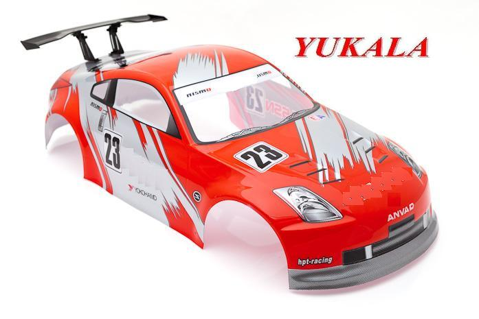 YUKALA 1/10 RC car Accessories 1:10 R/C car body shell 1/10 No:006R 190mm red 2pcs/lot