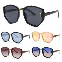 Fashion Men Women Irregular Hexagonal Frame Polarized Eyeglasses rice nail Spectacles Eyewear Driving Mirror Versatile Sunglasse