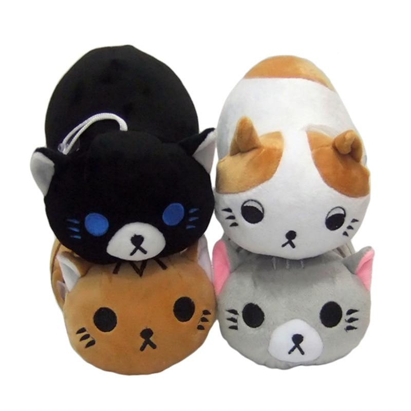Подарок на день рождения Лидер продаж Cat дворе мягкие Игрушечные лошадки 8 дюймов 4 шт./компл. белый Черный, серый цвет Кофе Cat плюшевые Куклы А...