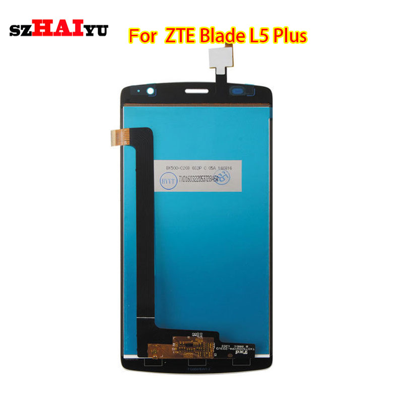 ФОТО 100% Tested Working Well Black LCD Display+Touch Screen For ZTE Blade L5 Plus with Digitizer Assembly Tools