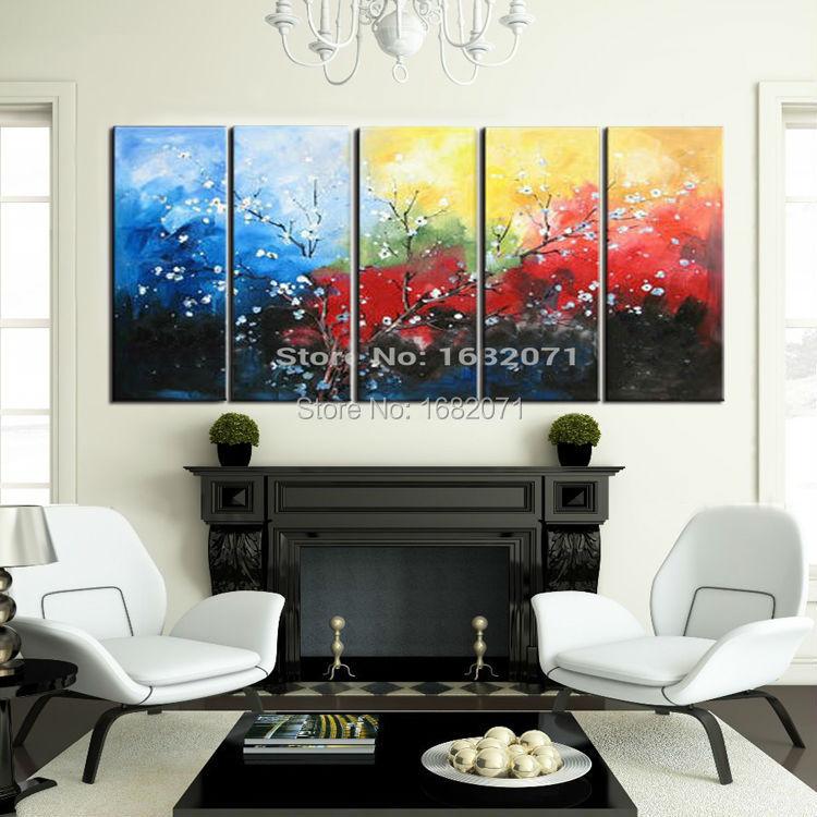 Мастерство художника Чистая ручная роспись высокое качество Современная абстрактная картина маслом с цветком на холсте красивая современ...