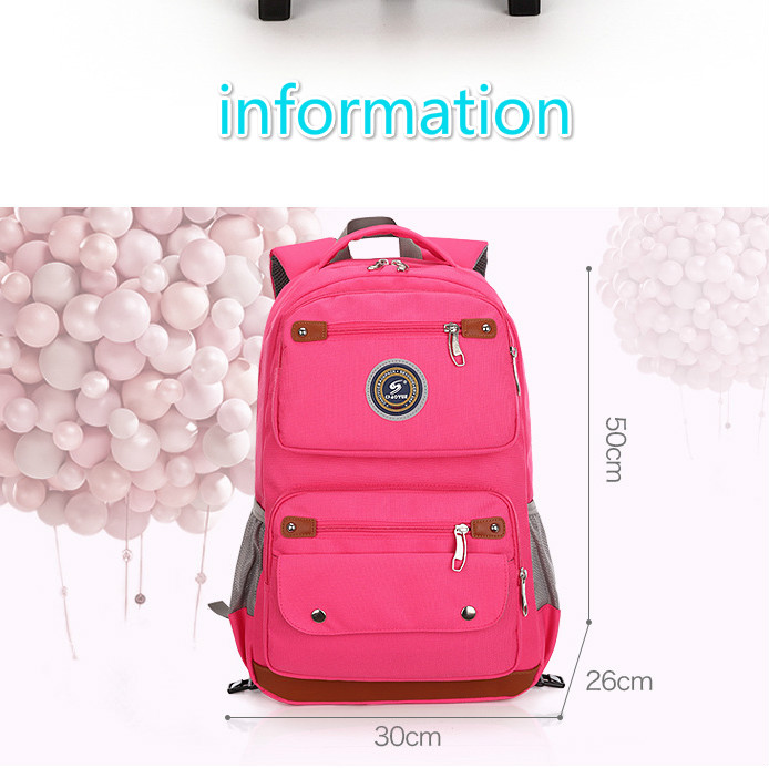 Removable Kids Backpack With Wheel Stair Trolley School Bags Children's Backpack Schoolbags Waterproof Bags For Girls and Boys