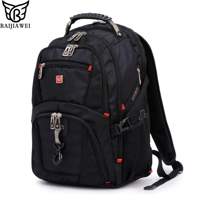 BAIJIAWEI Men and Women Laptop Backpack Mochila Masculina 15 Inch Backpacks Luggage & Men's Travel Bags Male Large Capacity Bag men laptop backpack mochila masculina 15 inch backpacks women school bag luggage travel bags male shoulder bag rucksack packsack