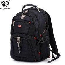 Baijiawei hombres y mujeres mochila portátil mochila masculina 15 pulgadas mochilas maletas y bolsas de viaje hombre de gran capacidad de los hombres bolsa