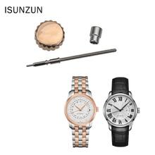 ISUNZUN Watch Crown Parts Replacem Original Quality Waterproof Dome Accessories For MIDO Bruna Series M024 Repair Tool Kit