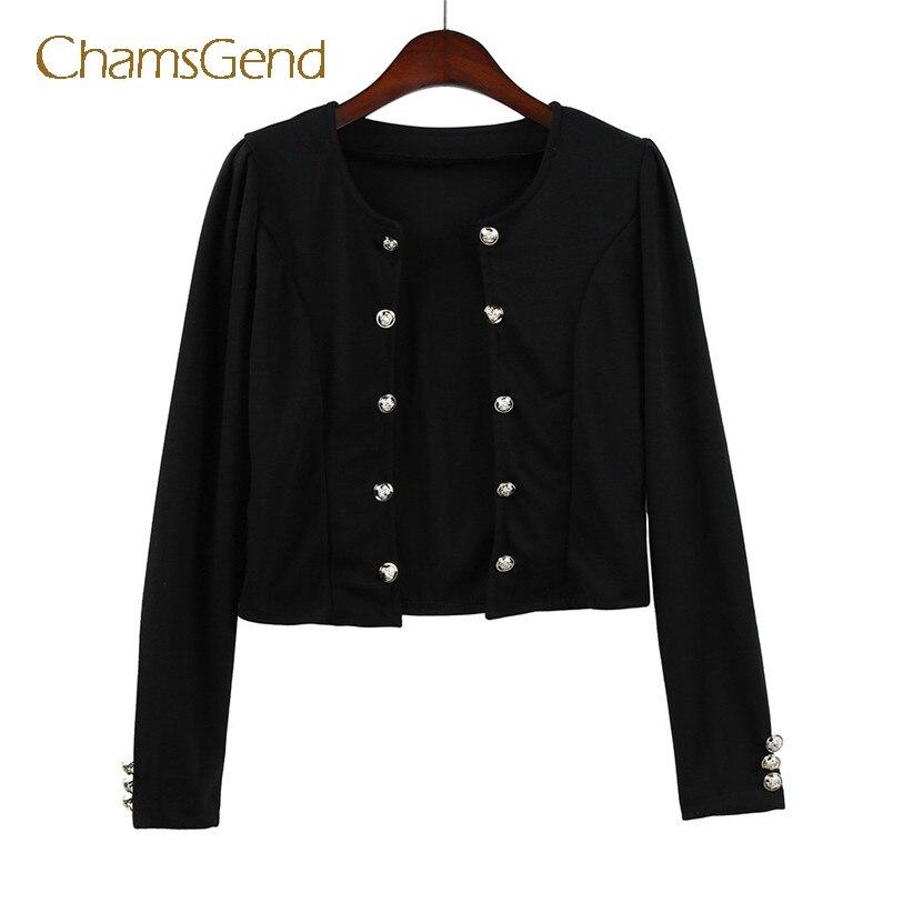 Chamsgend Women Casual Slim Blazer Suit Top Ladies Black Jacket Coat Outwear 7915