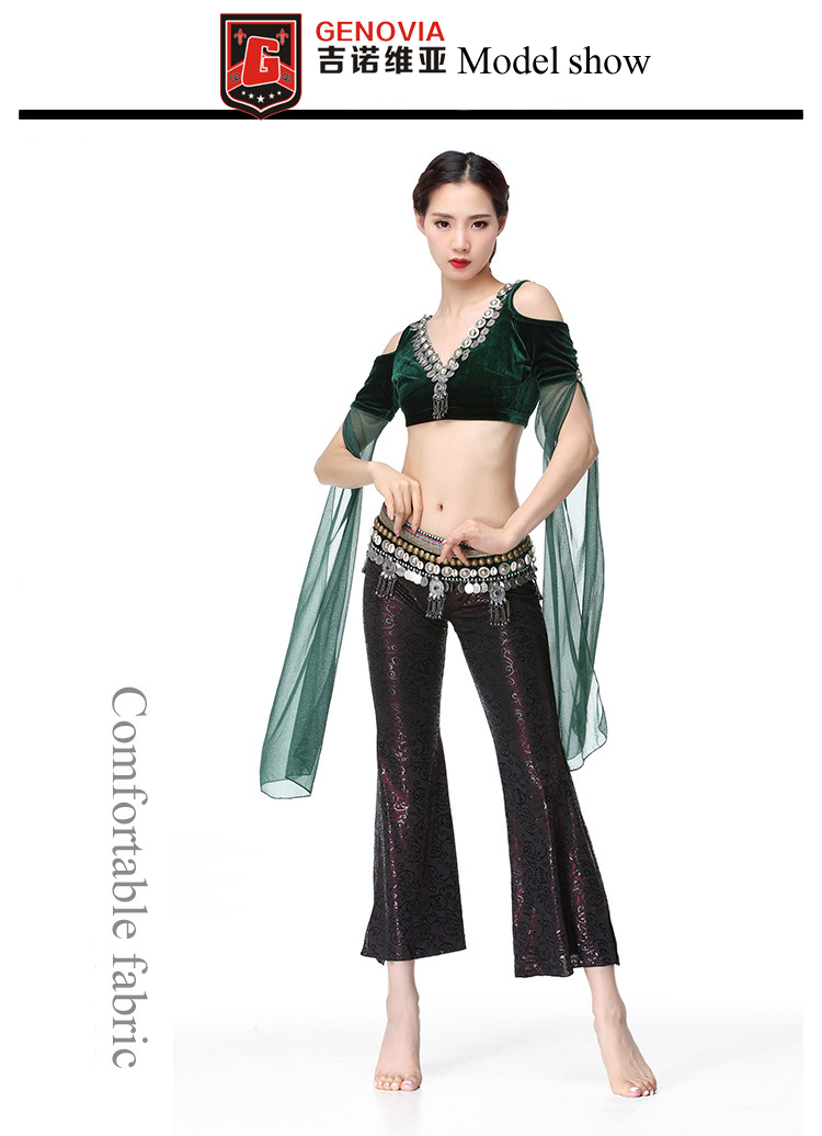 ae189c66d 3 PCS Tribal Belly Dance Costume Outfit Set Top Belt Pants Belly ...
