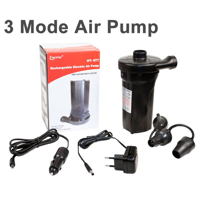 multi-fuction AC DC air pump for inflatable electric pump car lighter inflation pump for air mattress inflatabl boat bed C73003