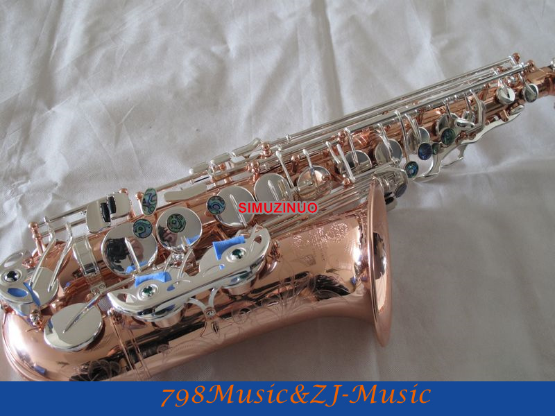 Professional Rose Gold alto Sax Eb saxophone Abalone Shell Key With Case loft style iron edison wall sconce industrial lamp wheels vintage wall light for home antique indoor lighting lampara pared