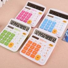Портативный 12 цифровой Солнечный Электронный калькулятор двойной с большим Пуговицы большой Дисплей студент калькулятор Commercia xXM