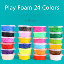 Kids Learning Toys Play Foam Soft Colored Modeling Clay Magic Air Dry slime Plasticine Play Set Playdough With Free Molds Toy(China)