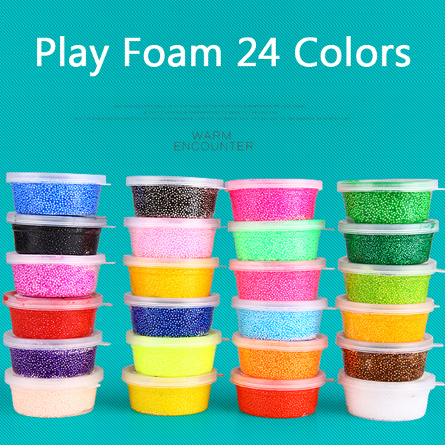 Kids Learning Toys Play Foam Soft Colored Modeling Clay Magic Air Dry slime Plasticine Play Set Playdough With Free Molds Toy