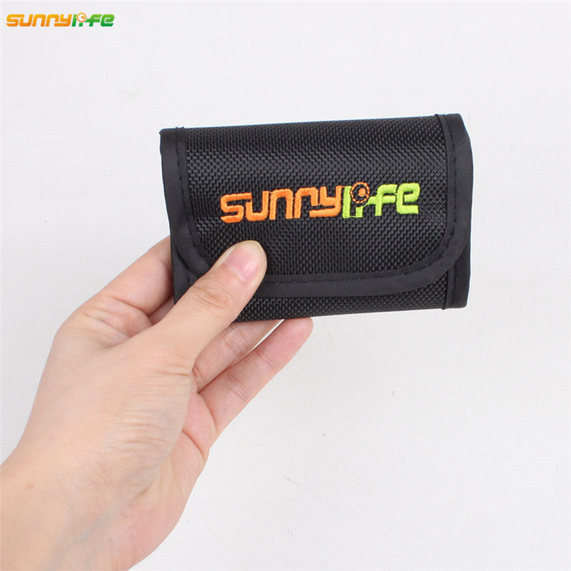 Sunnylife Protective Case Lens Filter Bag MCUV CPL ND Filters Portable Storage Bag Can Store 4