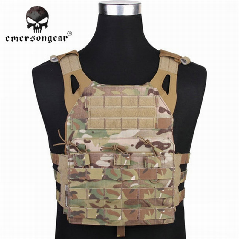 EMERSON 1000D JPC Tactical Airsoft Military Combat Vest Simplified Version Paintball Army Wargame Adjustable Hunting Vest emerson 1000d molle jpc airsoft tactical vest simplified version outdoor training paintball hunting vest plate carrier em7344