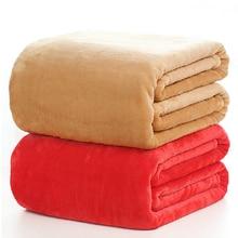 Manta de franela de color sólido ropa de cama sofá Lanza Mantas de invierno suave Sábana plana 150*200 cm 180*200 cm 200*230 cm 220×240 cm