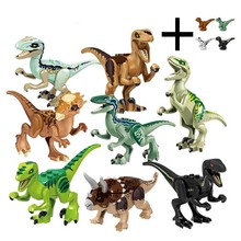12pcs/set Dinosaurs Jurassic World Baby Dinosaurs Figures Building Tyrannosaurus  Blocks Kids Toy Compatible with Legoings цена и фото