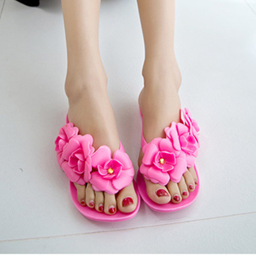 summer flip flops flower women slippers Jelly Shoes 39 slides beach shoes waterproof flat soft casual sandals korea pantufa 2018 2017 fashion women slippers summer shoes soft wedge sandals casual bohemia flip flops flat platform slippers pantufa zapatillas