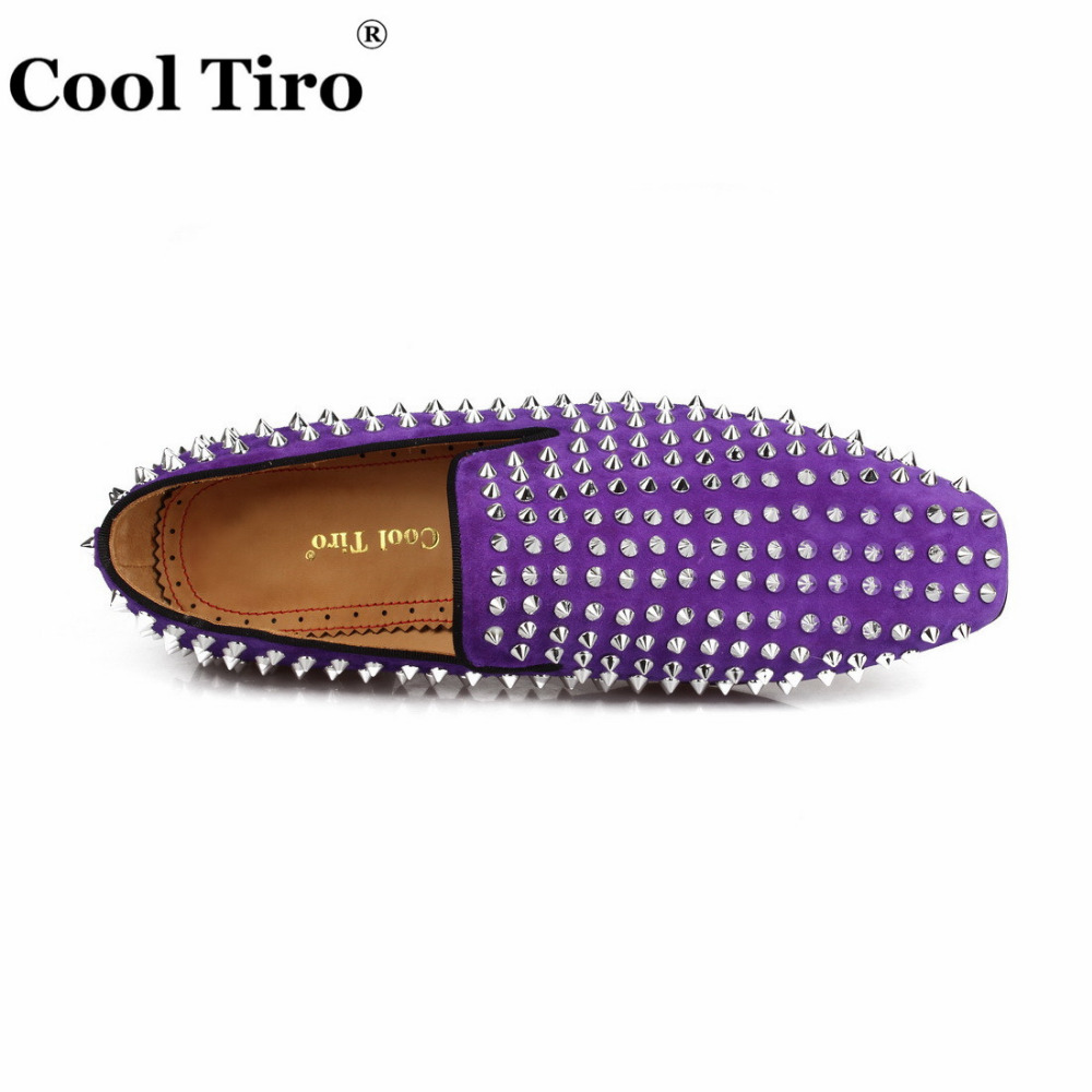 spikes Loafers purple suede  (12)