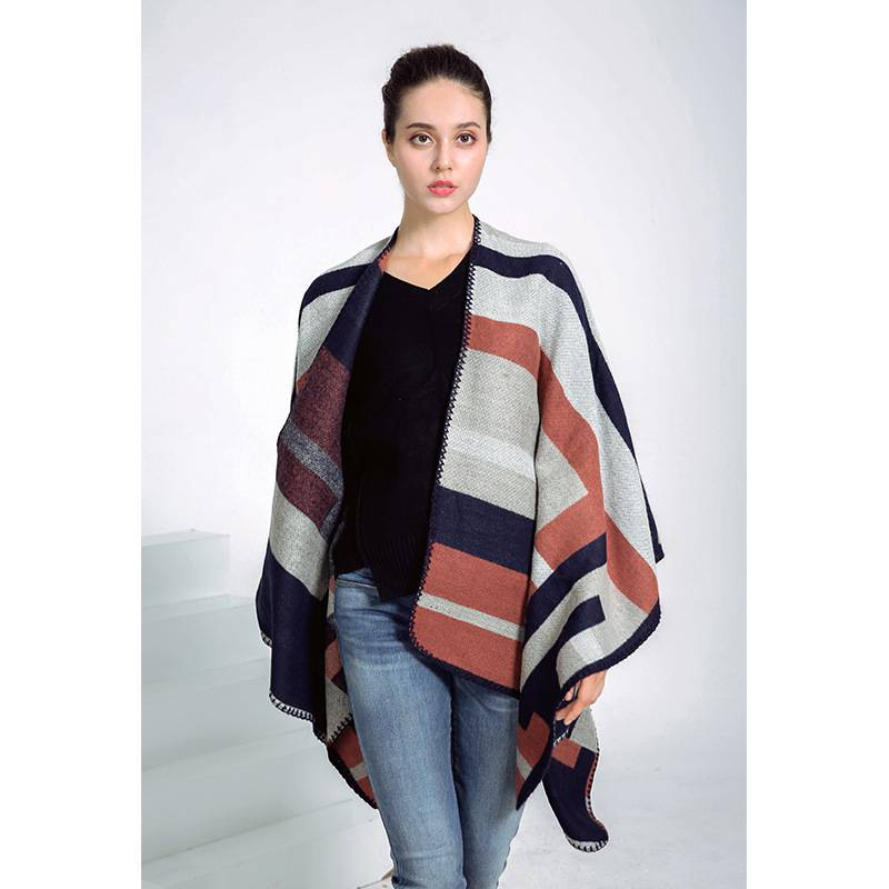 2016 Winter Autumn Brand font b Tartan b font Women Striped Patchwork Foulards Femme Echarpes Thick