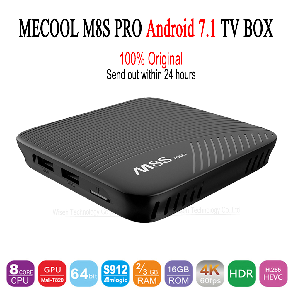 Genuine MECOOL M8S PRO Android 7.1 TV Box BT 4.1 2GHz ARM Cortex-A53 CPU 64bit 4K 2G 16G 3G 16G 3G 32G Set-top Box PK X92 X96