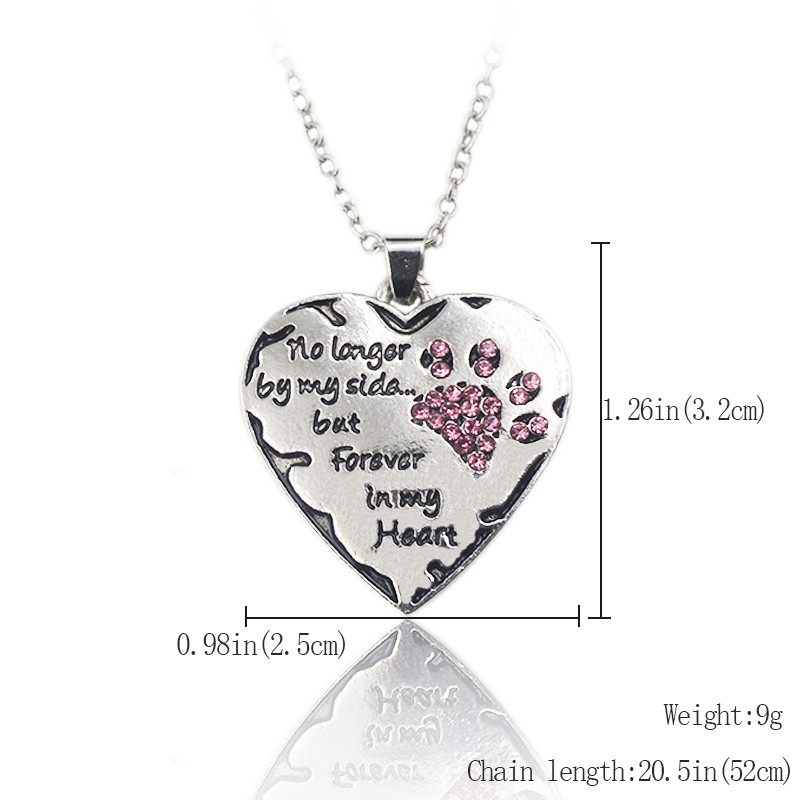 """""""Forever In My Heart"""" Cat Paw Necklace"""