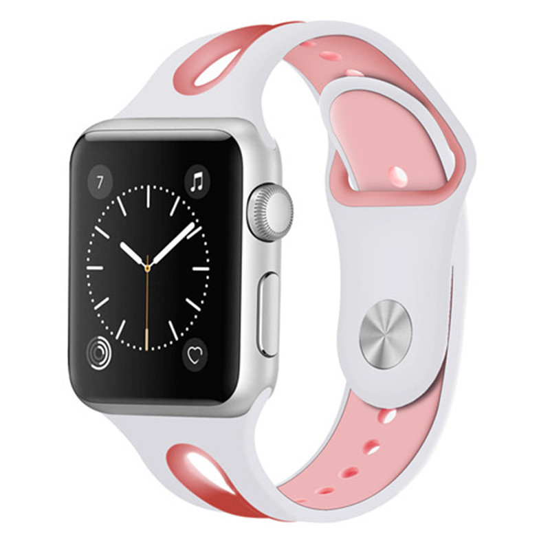 Silicone Sport band For apple watch aple watch correa 42mm 38mm Iwatch series 3 2 1 bracelet wrist belt watchbands metal Adapter sport silicone strap for apple watch band 42mm correa aple watch 38mm iwatch 3 2 1 replacement bracelet wrist belt rubber straps