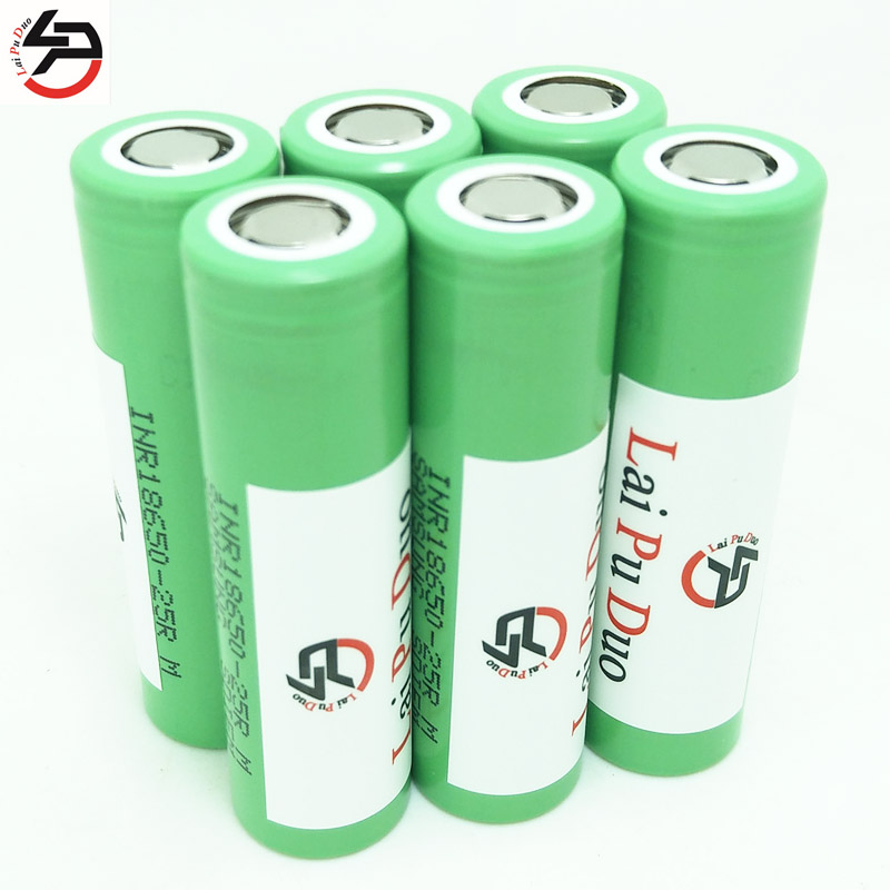 Laipuduo 3.6V INR18650-<font><b>25R</b></font> <font><b>18650</b></font> 2500mAh Continuous 20A Li-ion battery for <font><b>Samsung</b></font> image