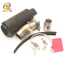 Motorcycle Exhaust Middle Pipe Escape MOTO Adapter Pipe Muffler SC for Kawasaki ER6N Full Exhaust Systems 2012 2013 2014 2015