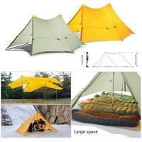 Ultralight 870g Camping Tent 6 Persons 4 Seasons Backpacking Tent Flysheet 20D 2 sided Silicone Coating Nylon Rodless Large Tent