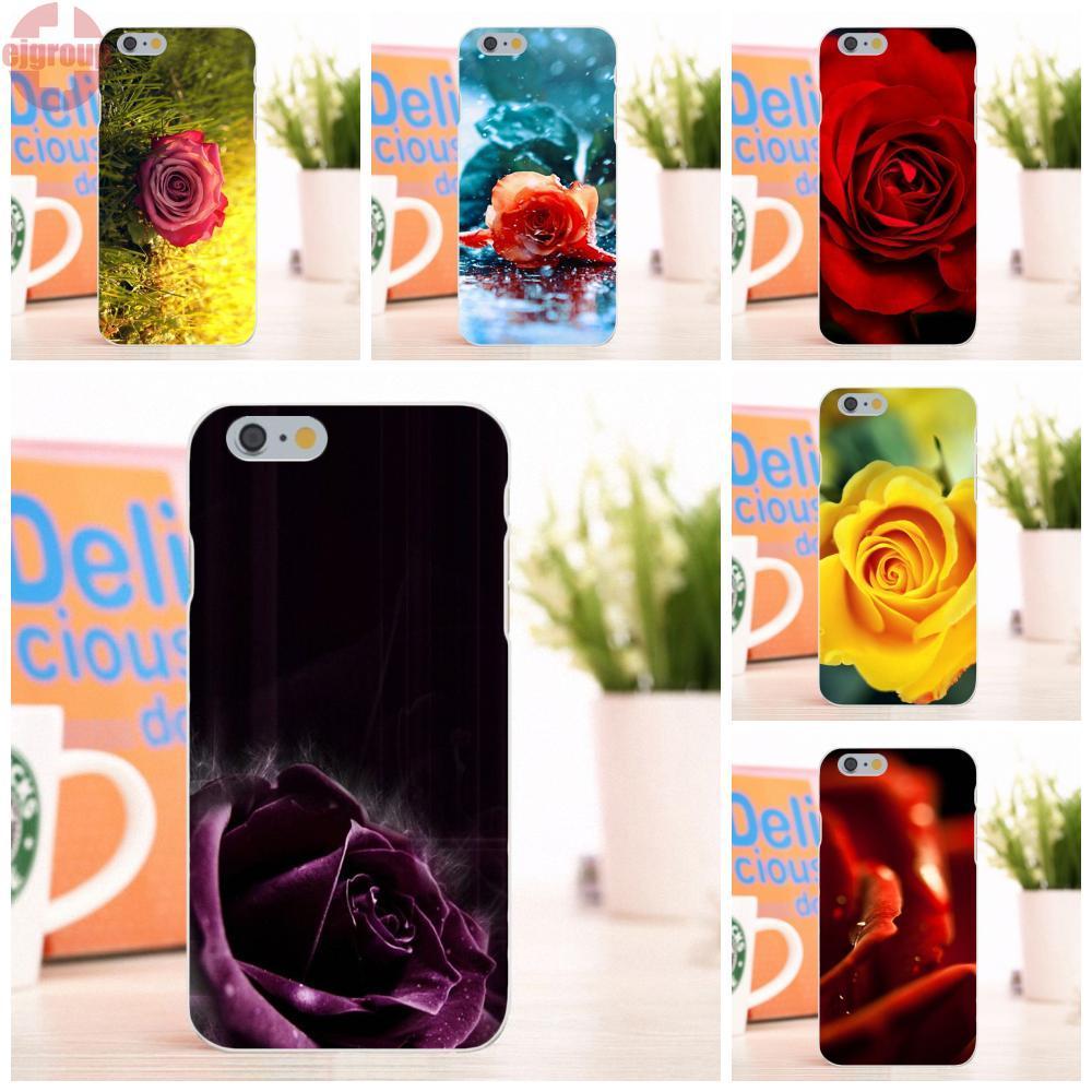 EJGROUP Мягкие TPU кремния Экран протектор для Apple iPhone 6/6 s 4,7 дюймов Роза на Винтаж страница ...