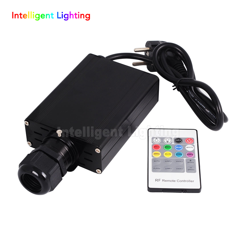 RGB 16W LED Fiber Optic Engine Driver with 20key RF Remote Controller For All Kinds Fiber