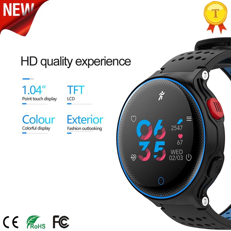 Orginal New Smart Watch Color Screen Blood Pressure Heart Rate Monitor Pedometer Fitness Tracker <font><b>IP</b></font> <font><b>68</b></font> Waterproof Sports Watch image